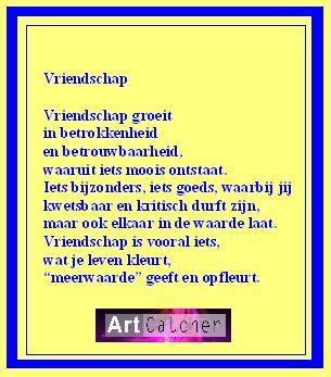 vriendschap site Roosendaal